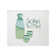 Sake To Me! Throw Blanket