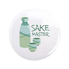"""Sake Master 3.5"""" Button"""