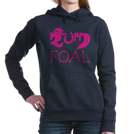 Foal 2014 Filly Horse Hooded Sweatshirt