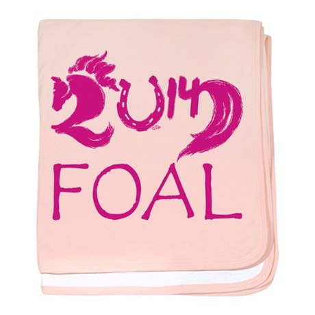 Foal 2014 Filly Horse baby blanket