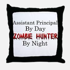 Assistant Principal/Zombie Hunter Throw Pillow