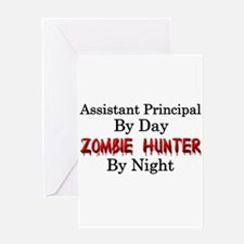 Assistant Principal/Zombie Hunter Greeting Card