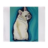 French bulldog Fleece Blankets
