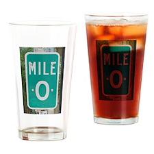 Mile 0 Key West Drinking Glass