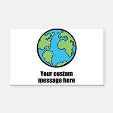 Make your own custom earth message Rectangle Car M