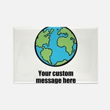 Make your own custom earth message Magnets