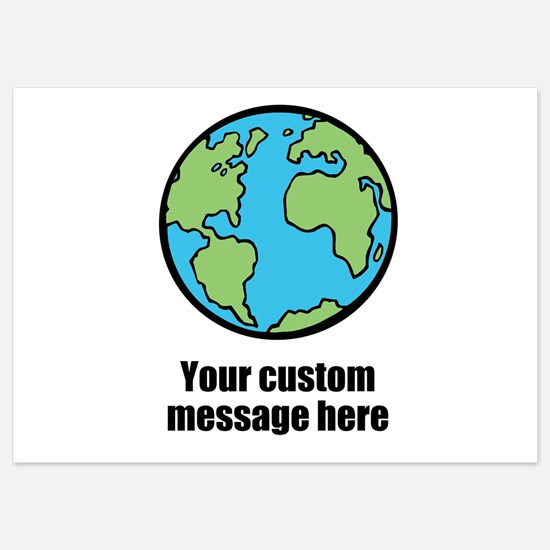 Make your own custom earth message Invitations