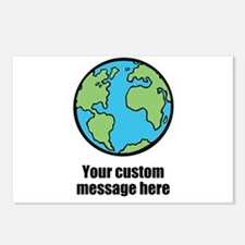 Make your own custom earth message Postcards (Pack