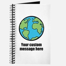 Make your own custom earth message Journal