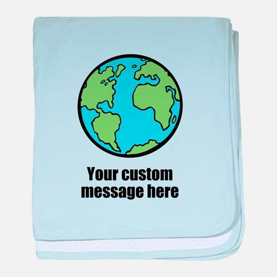 Make your own custom earth message baby blanket