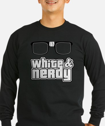 White and Nerdy Long Sleeve T-Shirt