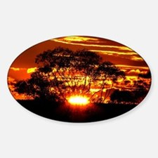 Golden Sunset Sticker (Oval)