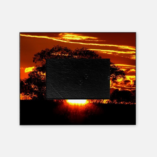 Golden Sunset Picture Frame