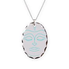 Buddha dark Necklace Oval Charm