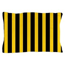 Black And Yellow Stripes Pillow Case