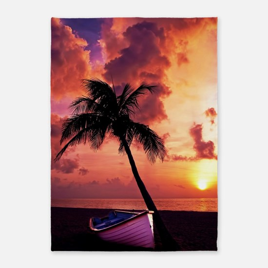 Sunset with Boot 5'x7'Area Rug