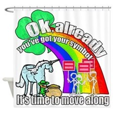 Take back the rainbow Shower Curtain