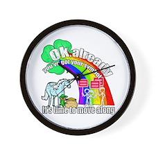 Take back the rainbow Wall Clock