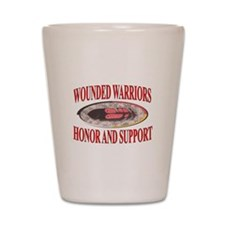 HONOR WOUNDED WARRIORS Shot Glass