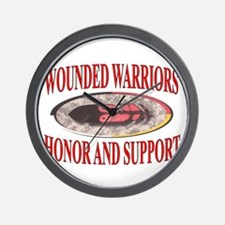 HONOR WOUNDED WARRIORS Wall Clock