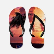 Sunset with Boot Flip Flops