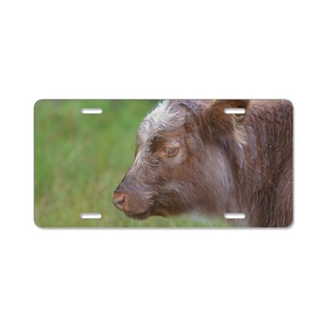 Highland Calf Aluminum License Plate