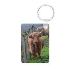 Highland Cow Standing by H Keychains