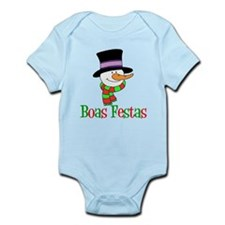 Boas Festas Snowman Kids Body Suit
