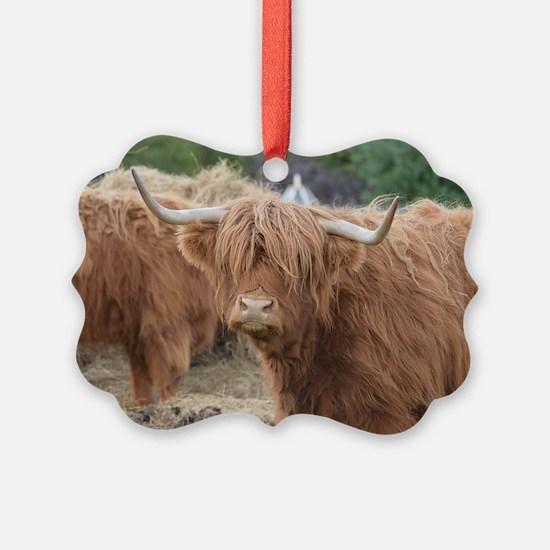 Cute Highland Cow Ornament