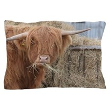Cow with Hay Pillow Case