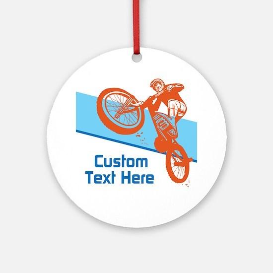 Custom Motocross Bike Design Ornament (Round)