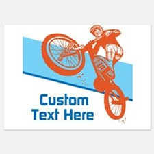 Custom Motocross Bike Design Invitations