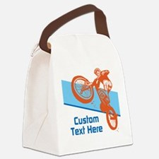 Custom Motocross Bike Design Canvas Lunch Bag