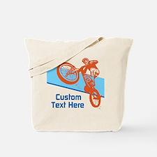 Custom Motocross Bike Design Tote Bag
