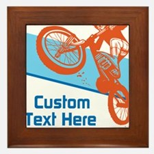 Custom Motocross Bike Design Framed Tile