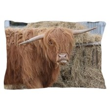 Crooked Horned Cow Pillow Case