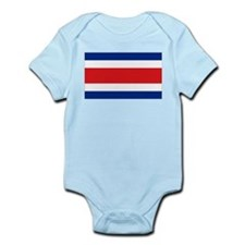 Costarican flag Infant Bodysuit