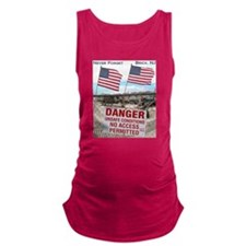 Never Forget Brick NJ Danger Maternity Tank Top