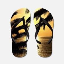 Sunset with Palms Flip Flops