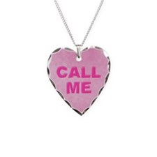 Candy Heart Call Me Necklace