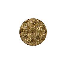 Steampunk Cogs&Pipes-Brass Mini Button