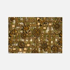 Steampunk Cogs&Pipes-Brass Rectangle Magnet