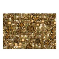 Steampunk Cogs&Pipes-Bras Postcards (Package of 8)