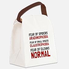 Fear Clowns Canvas Lunch Bag