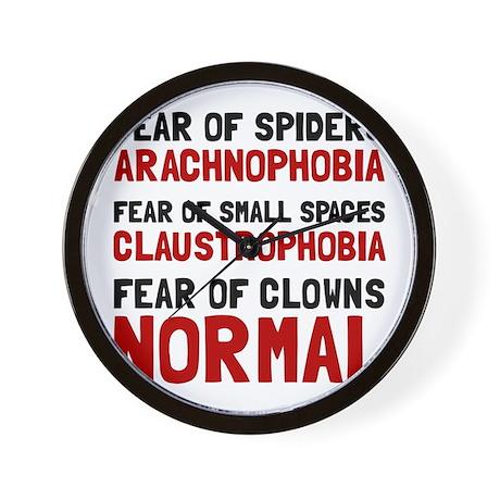Fear Clowns Wall Clock