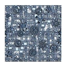 Steampunk Panel - Steel Tile Coaster