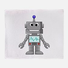 Happy Robot Throw Blanket