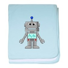 Happy Robot baby blanket