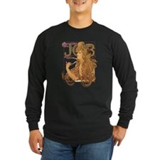 Alphonse Mucha JOB Long Sleeve T-Shirt