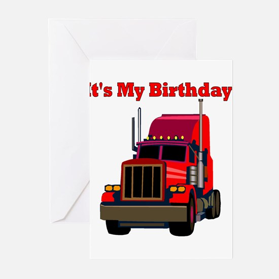 Semi Truck Birthday Party Invitations (Pk of 10) G